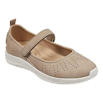 Terezinha de Womens fácil espírito fechado do dedo do pé tornozelo cinta Mary Jane Flats