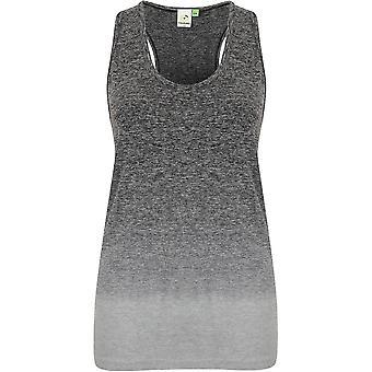Regard extérieur Womens/dames sans soudure Fade Out Gym Vest Top