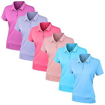 Island Green Womens Golf Golf Polka Dot Polo Shirt