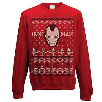 Unisex Iron Man Fair Isle Christmas Jumper