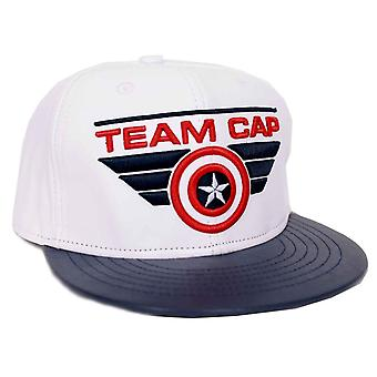 Captain America Baseball Cap Team Captain Logo Official Marvel White Snapback