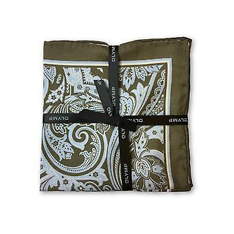 Olymp Pocket Square in brown paisley pattern