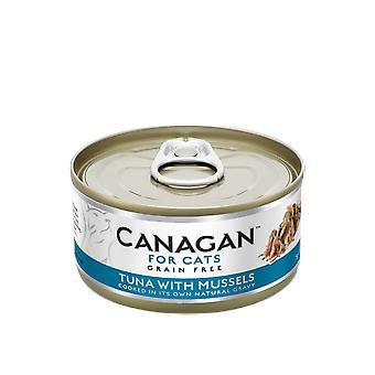 Cardot 75g thon avec moules Cat Can de nourriture humide - 75g peut