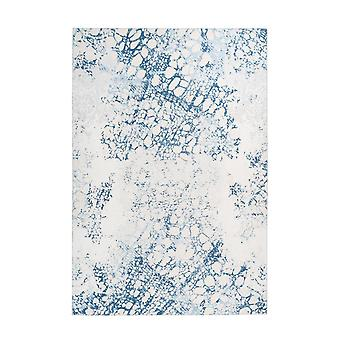 Tapis Modern Vintage Design Wash Edits Marble Optics Cream White Blue