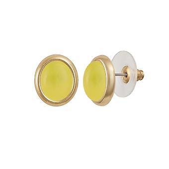 Wieczne kolekcji Menuet miód kwarc żółty odcień złota Stud kolczyki Kolczyki