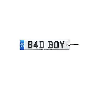 Bad Boy Numberplate Car Air Freshener