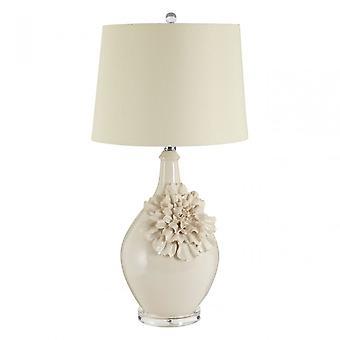 Premier Home Padma Table Lamp, Ceramic, Linen