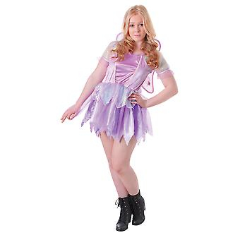 Bristol Novelty Teens/Girls Fantasy Fairy Dress And Wings Costume