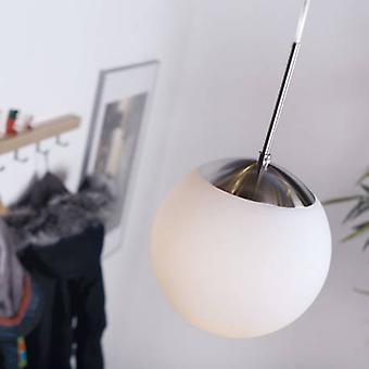 1 Light Ceiling Pendant Opal White, Glass Globe