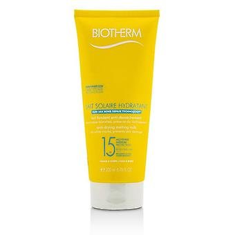 Biotherm Lait Solaire Hydratant Anti-drying Melting Milk Spf 15 - For Face & Body - 200ml/6.76ml