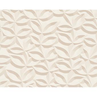 A.S. creatie als creatie 3D effect Leaf patroon behang steen Floral blad moderne getextureerde 329812