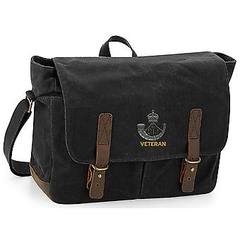 Durham Light Infantry Veteran - Licenza Dell'Esercito Britannico Ricamato Waxed Canvas Messenger Bag