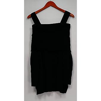 Isaac Mizrahi elää! Naisten ' s pusero Avoauto kylmä olkapää musta A295899