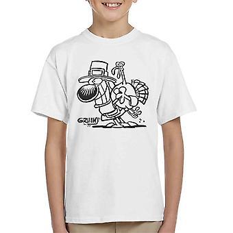 Grimmy Thanksgiving Turkey Kid's T-Shirt