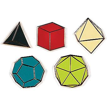 Pin Set - Platonic Solid New 5313