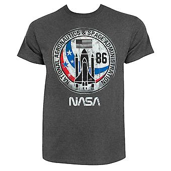 NASA Distressed Logo Men's Grey T-Shirt
