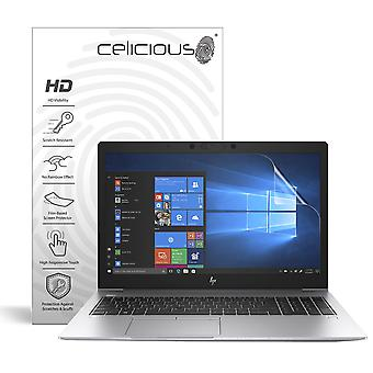 Celicious Vivid Invisible Glossy HD Screen Protector Film Compatible with HP ENVY x360 15 DR0005NA [Pack of 2]