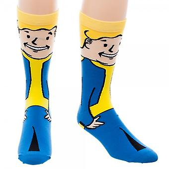 Crew Sock - Fallout - Vaultboy New Licensed cr4j07fof