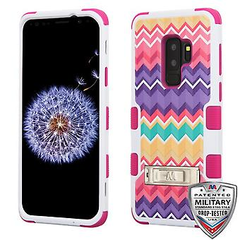 MYBAT Camo Wave/Hot Pink TUFF Hybrid Protector Cover  for Galaxy S9 Plus