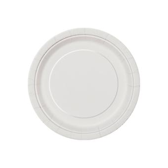 SALE - 8 Midi 'Bright White' Paper Plates | Party Tableware Supplies