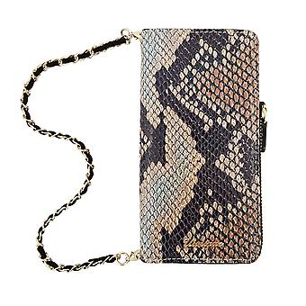 Snake Tan Leather 2-in-1 Wallet iPhone 8 /7 Case