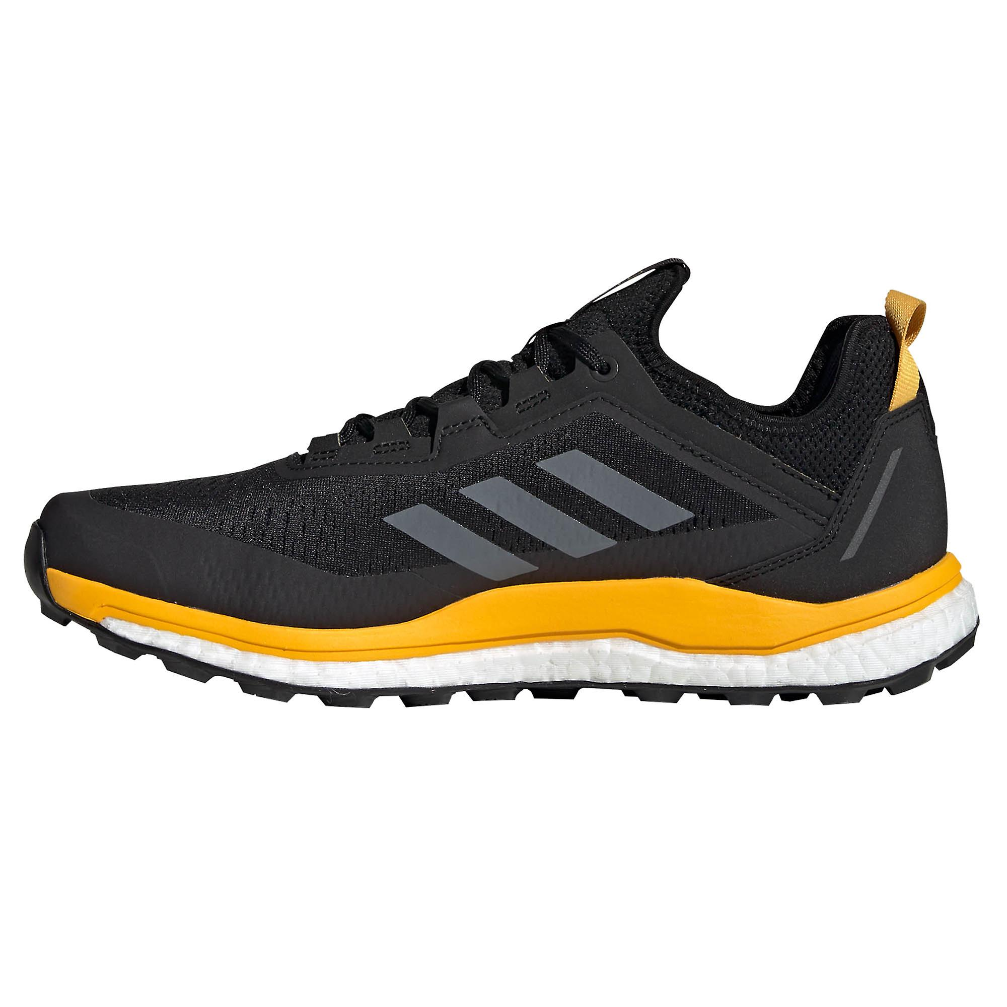 Adidas Terrex Agravic Flow Mens Trail Running Trainer Chaussure Noir/or