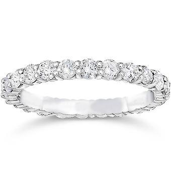 1 1/2ct Diamond Eternity Ring 14K White Gold