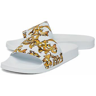 Sik Silk Venetian Sliders White/Gold 81