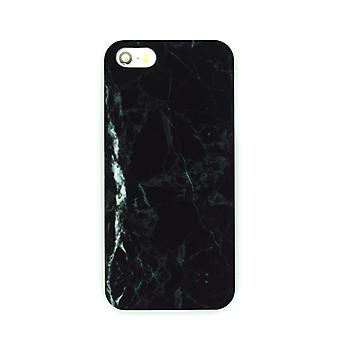 Iphone 5/5S/SE Marble Cover Case Black