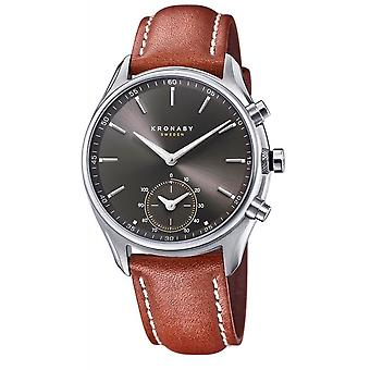 Kronaby S0719-1 Men's Sekel Smartwatch Brown Strap