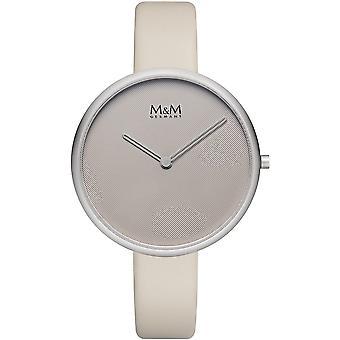 M & M Germany M11954-828 Flat Design Ladies Watch