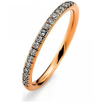 Diamond Ring Ring-18K 750 rood goud-0,28 CT.