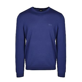 BOSS Athleisure Boss Raio 1 Crew Neck Knitwear Bright Blue