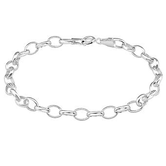 Cable Chain - 925 Sterling Silver Silver Heavy - W39095X
