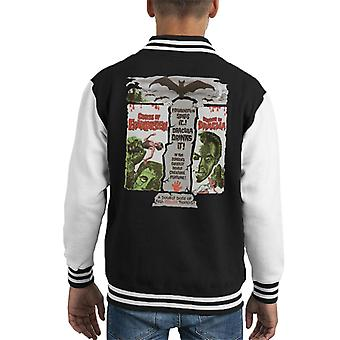Hammer Horror Films Double Feature Frankenstein Dracula Kid's Varsity Jacket