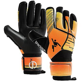 Precision Fusion Heat Adult Football Soccer Goalkeeper Glove Black/Orange