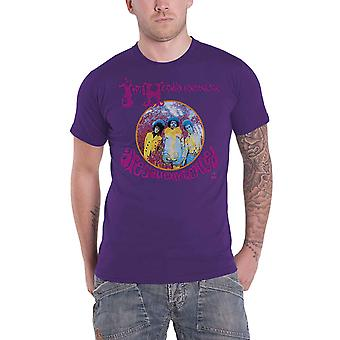 Jimi Hendrix T Shirt Are You Experienced Logo new Official Mens Purple