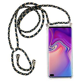 Catena di telefoni per Samsung Galaxy S10 Plus - Custodia collana smartphone con banda - cord con custodia per appendere in mimetica
