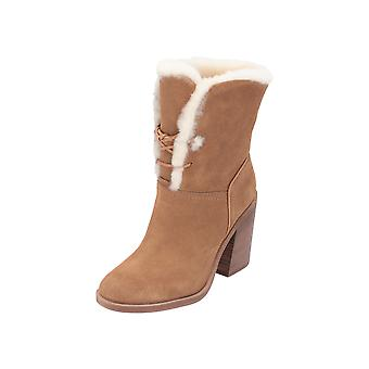 UGG W JERENE Women's Boots Beige Lace-Up Boots Winter