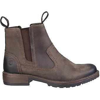 Cotswold das mulheres/senhoras Laverton Slip na bota de couro