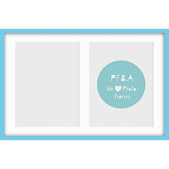 Multi Aperture Photo Frame Instagram Wall Mounted Blue Picture Collage All Sizes