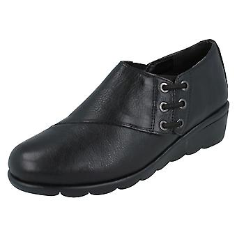 Ladies Padders Wedge Shoes Birch