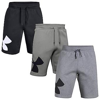 Under Armour mens 2020 rivaal fleece UA logo training fitness Sweatshort shorts