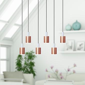 Virgo 6 Mini Pendant Lighting White-Copper
