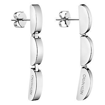 Calvin Klein Wavy Silver Stainless Steel Drop Earrings KJAYME000200