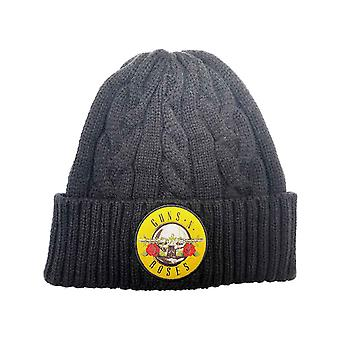 Guns N Roses Beanie Hat Classic Band Logo Cable Knit new Official Unisex
