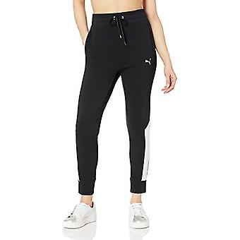 PUMA Women's Modern Sports Pants, Cotton Black,, Cotton Black, Size X-Large