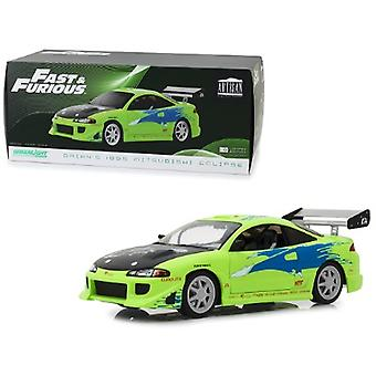 Brian-apos;s 1995 Mitsubishi Eclipse The Fast and the Furious (2001) Movie 1/18 Diecast Model Car par Greenlight