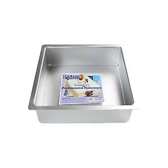 PME 8 Inch Square X 3 Inch Deep Seamless Cake Pan Tin