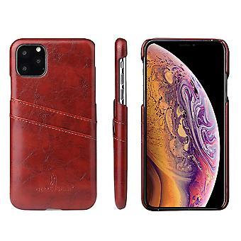 iPhone 11 Pro max tapauksessa deluxe nahka lompakko takaisin suojakansi ruskea